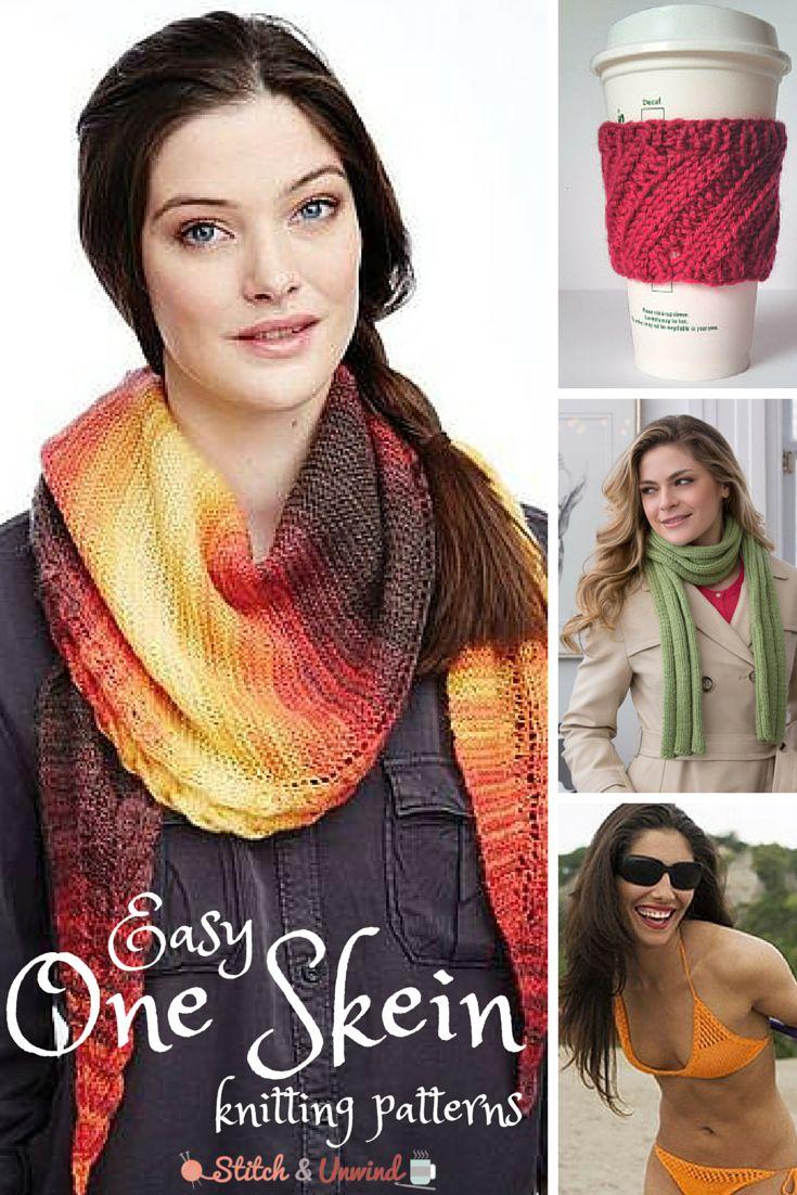 46 best One Skein Knitting Patterns images on Pinterest | Knitting ...
