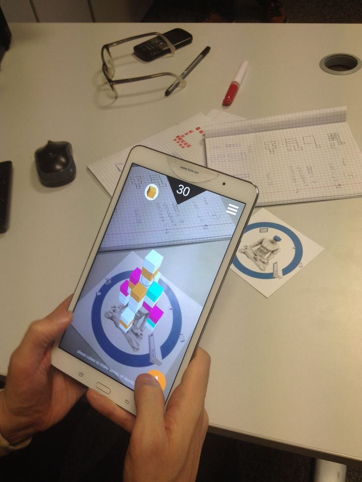 New augmented reality game in progress