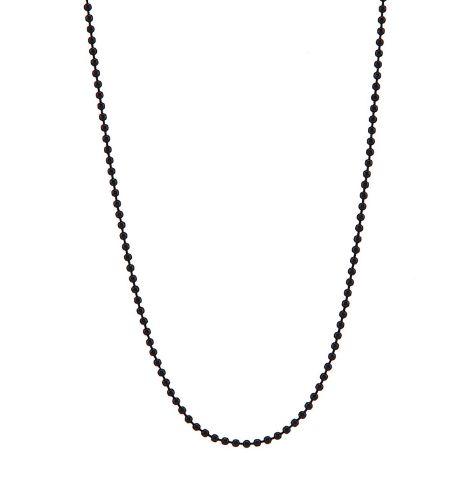 Kuglekæde i sort 90cm