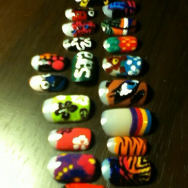 All my nail art designs I copied from other yuo tube  talented n ail art artists. .