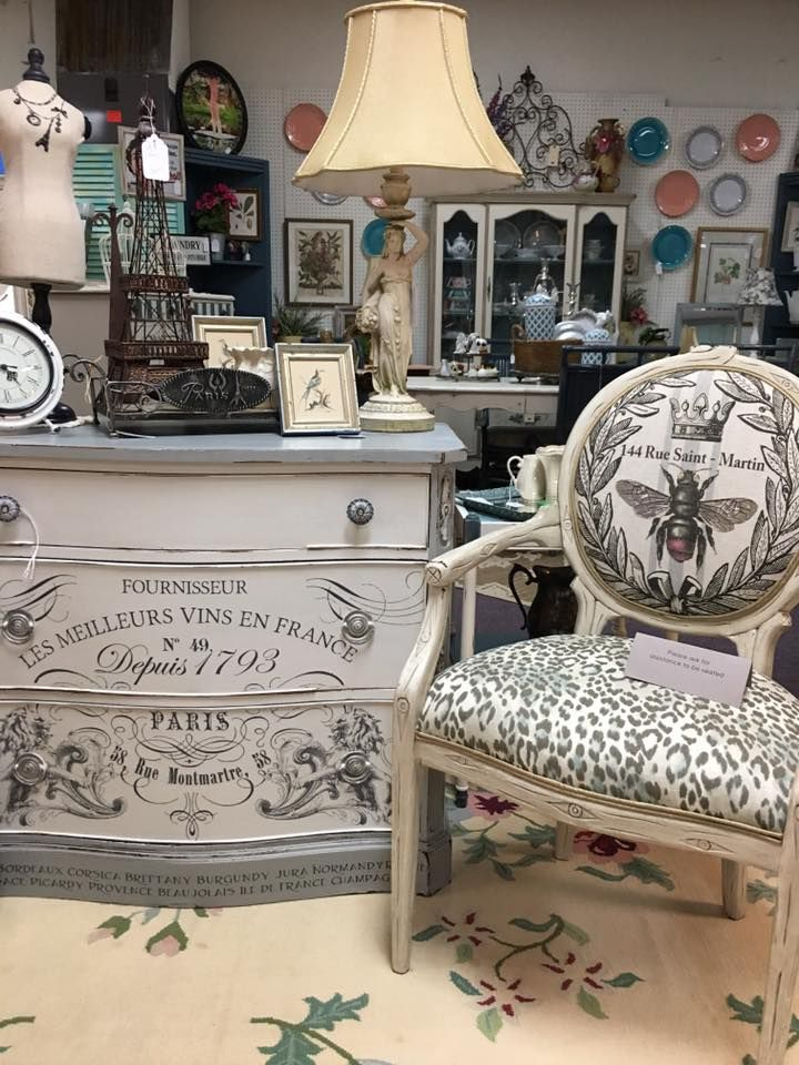 Lovely Dixie Belle Paint Buttercream And Manatee Gray With IOD Transfers. Vintage  Market Mall U0026 Salvage