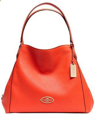 COACH EDIE SHOULDER BAG IN LEATHER - Coach Handbags - Handbags Accessories - Macys