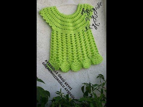 Tığişi Kolay Bebek Elbisesi Modeli - YouTube