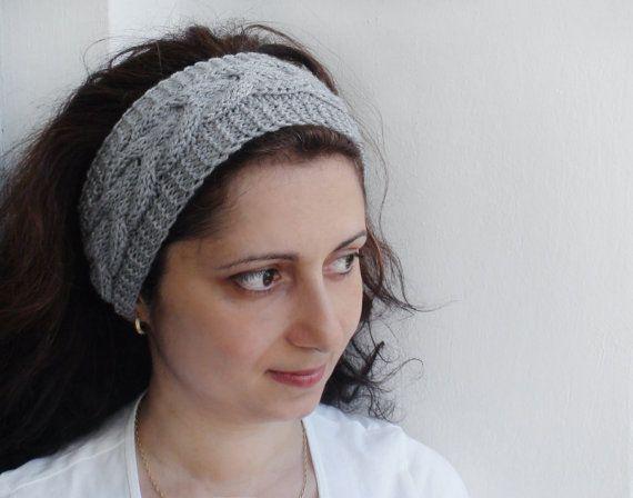 Gray Knitted Headband knitted fashion trends hand от HelenKurtidu, €12.00