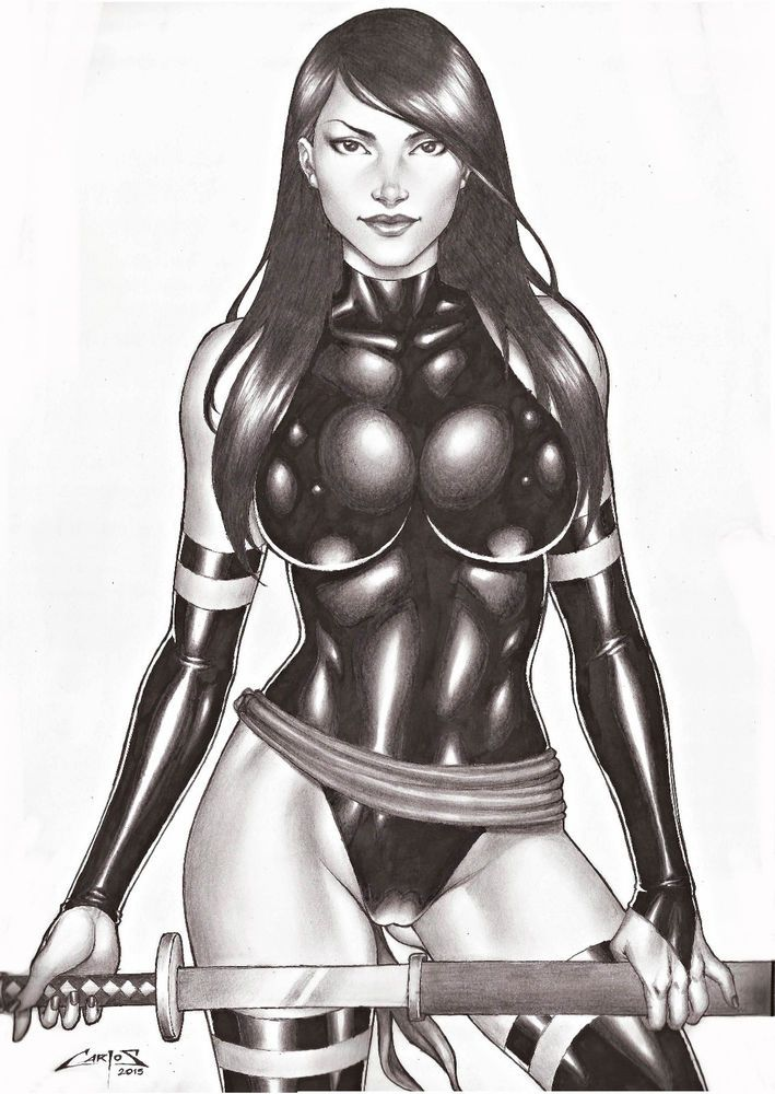 X men female characters naked