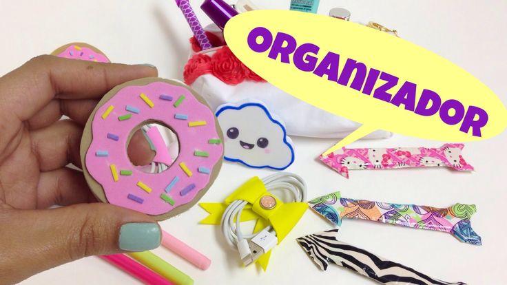 Ideas para organizar,manualidades faciles,organizador para cables(audifo...