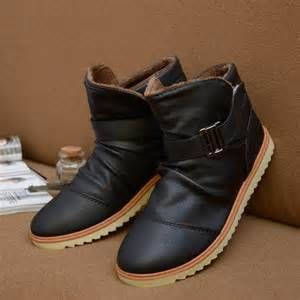 men's snow boots men's winter boots for men's warm leather high top ...