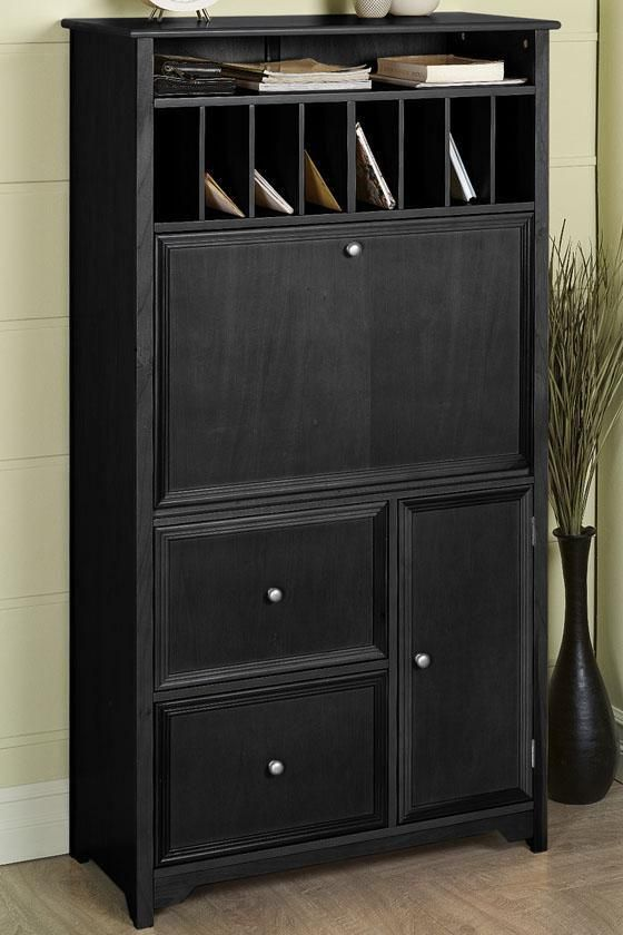 "Oxford Tall Secretary Desk - Secretary Desks - Home Office Furniture - Furniture |HomeDecorators.com/60""Hx32""Wx16""D"