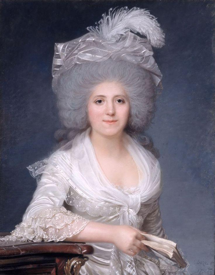 Portrait of Jeanne-Louise-Henriette Campan (1752-1822), 1786.Joseph Boze (French, 1745–1826). Pastel.Chateau de Versailles.