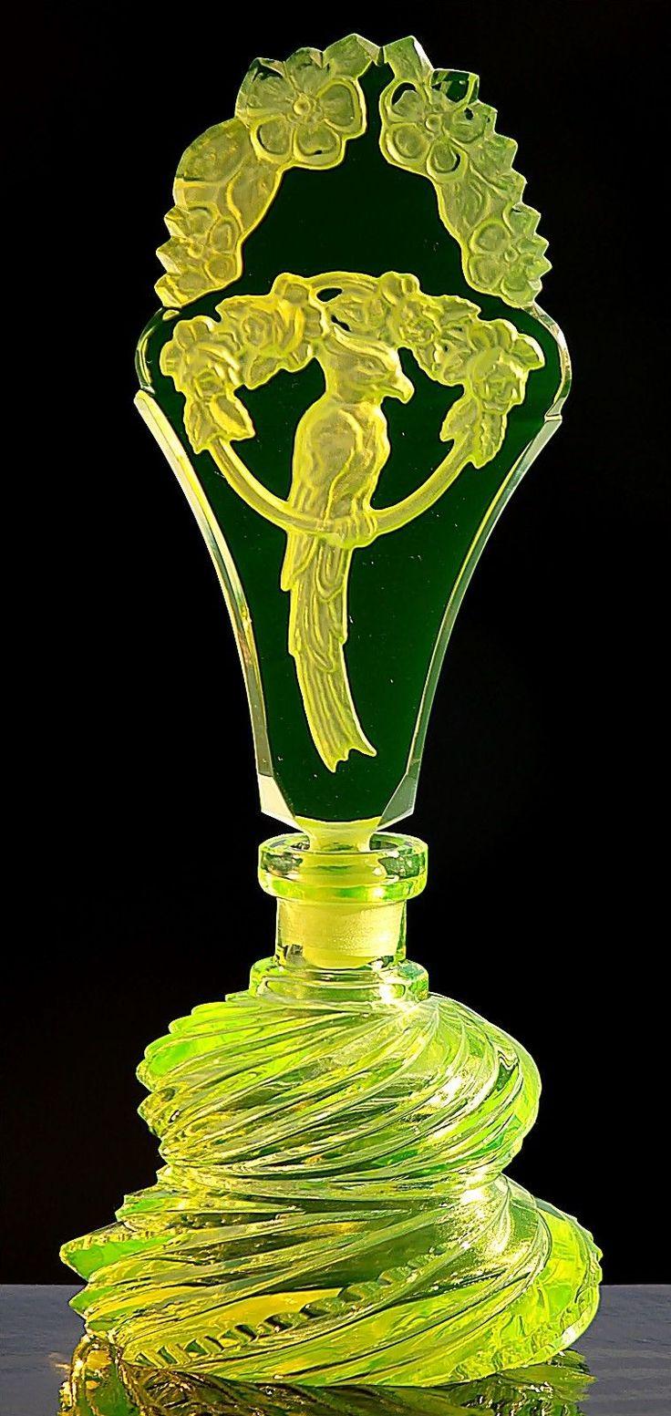 Singing Parrot Vaseline perfume Bottle Pesnicak Signed Perfume Bottle | eBay