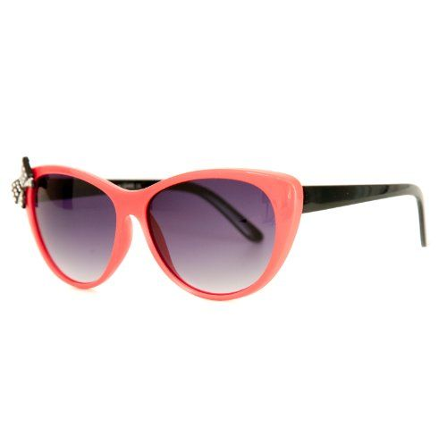 Retro Cat Eye Shape Sunglasses with Spotted Bow