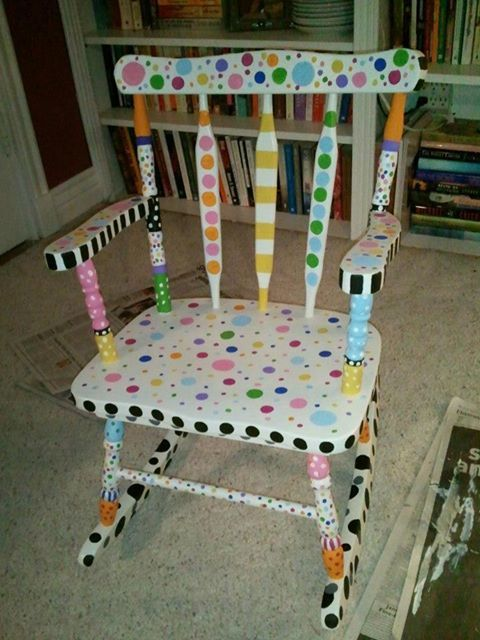 Delightful Kids Painted Rocking Chair   Google Search