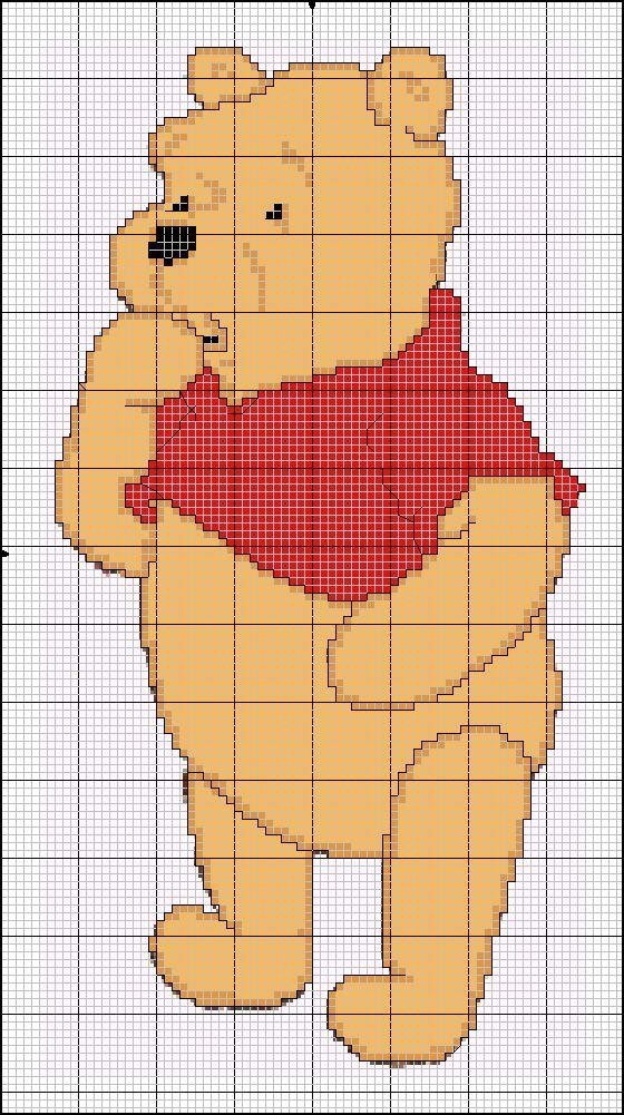 Winnie The Pooh cross-stitch pattern