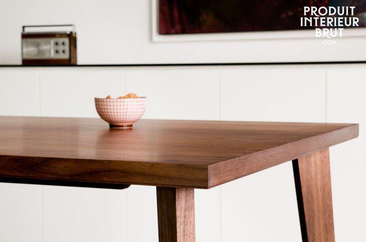 Table de repas Nöten - design scandinave - L'élégance de lignes très épurées, la beauté du noyer massif