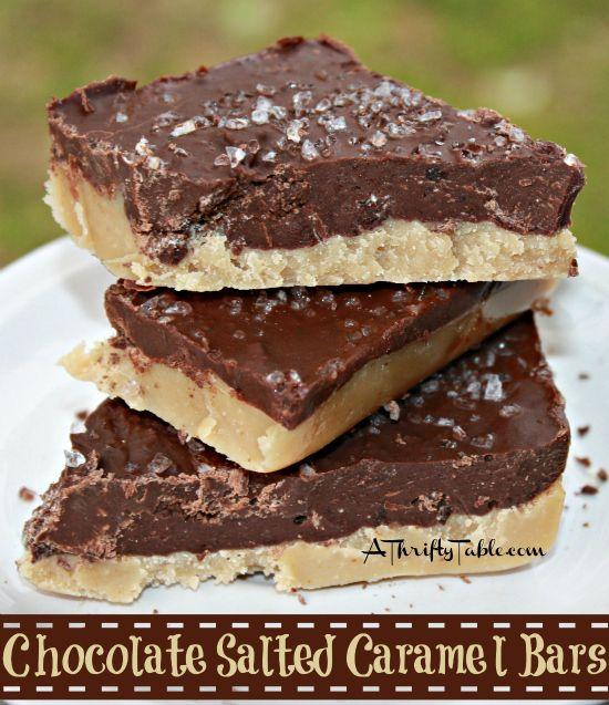 Salted caramel bars, Caramel bars and Salted caramels on Pinterest