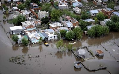Soweto, ECape Floods | An aerial view of streets in La Plata on Wednesday after heavy rains flooded a large part of the city. | Photo Reuters