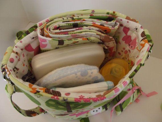 Dollbirdies Original cochecito pañalera con cojín y bolsa de