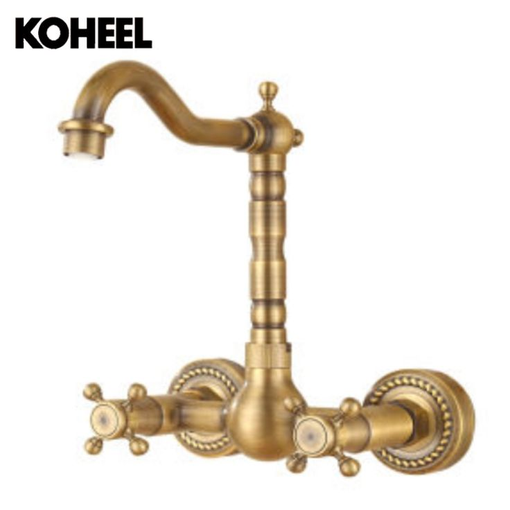 107.80$  Buy here - http://aium5.worlditems.win/all/product.php?id=32804695548 - Antique Brushed Brass Bath Faucets Wall Mounted Bathroom Basin Mixer Tap Crane With Hand Shower Head Bath & Shower Faucet
