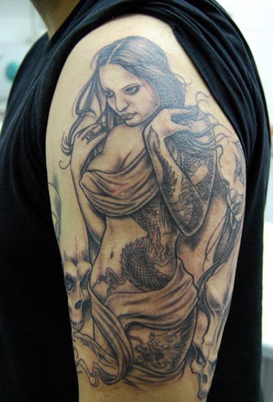 320 best tatoos images on pinterest tatoos phoenix for Topless tattoo girls