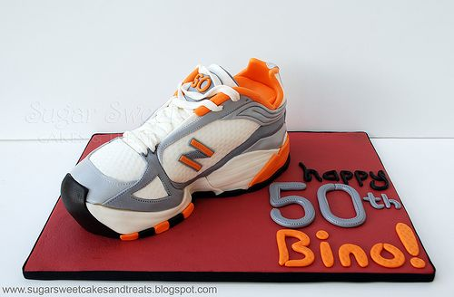 New Balance Running Shoe Cake (tutorial)