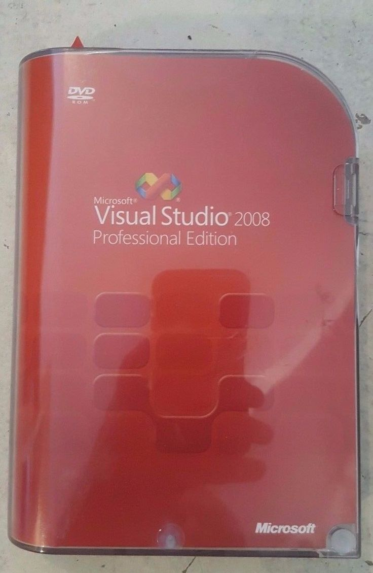 Microsoft Visual Studio 2008 Professional SKU C5E-00245 Retail Box