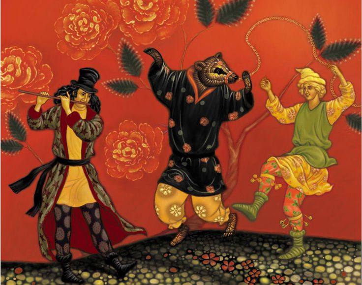 Russian-style Dancing Bear troupe