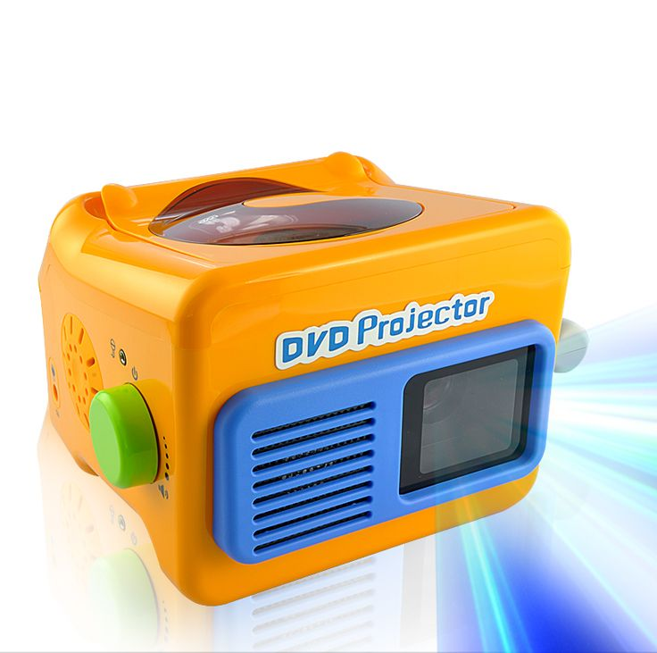 Portable LED Projector + DVD Player with Microphone Jack and Stereo Speaker
