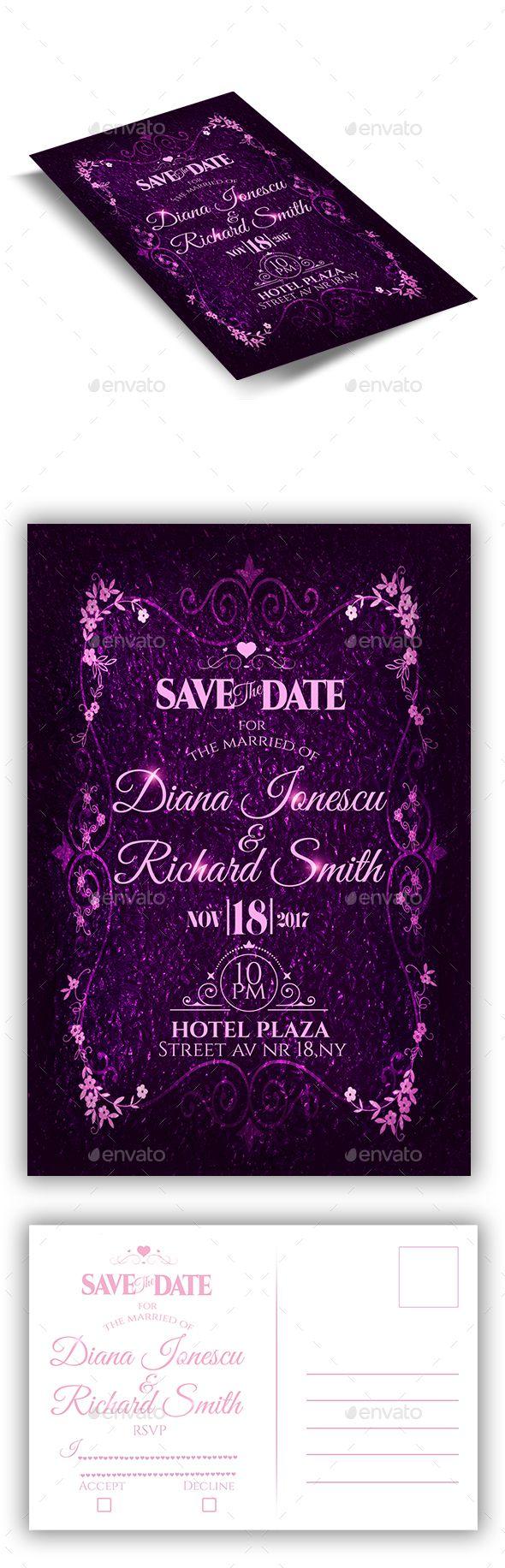 wedding invitation design psd%0A Wedding Invitation Flyer   RSVP