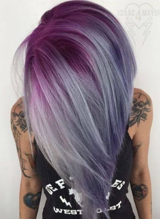 Purple highlights