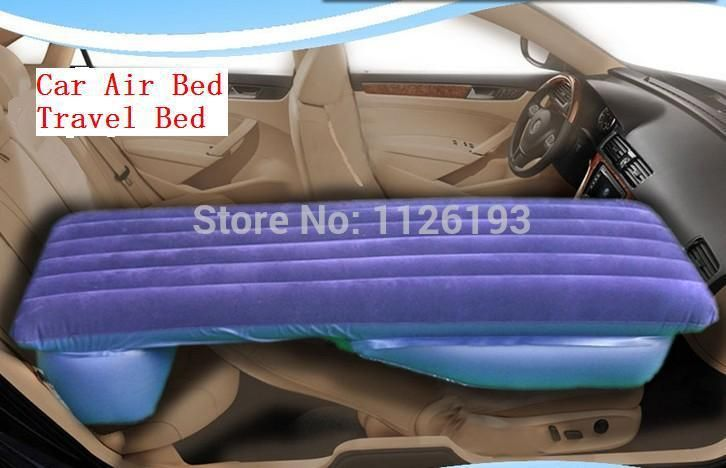 Car air bed Car travel bed inflatable air mattress adult driving a car to travel back to bed/Beige/Orange/Black Blue