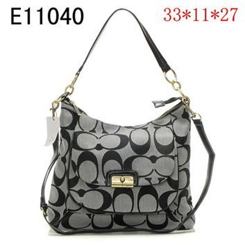 coach canada outlet online h1ox  Save Cheap 2012 New Arrival Coach Kristin Embellished Signature Hobo Gray  Factory Outlet Online US Store With Free Ship & 24 Hours Delivery!