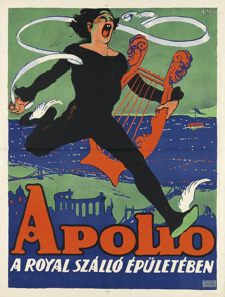 IMRE FOLDES (1881-1948) APOLLO. Circa 1905. 49 1/2x37 1/4 inches, 125 3/4x94 1/2 cm. Seidner, Budapest.