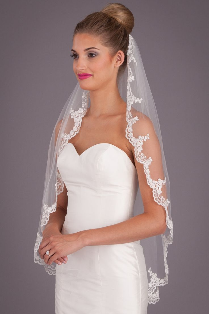 A fingertip, lace veil that is picture-perfect! | Kennedy Blue Penelope