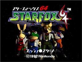 Title screen of Star Fox 64 on the Nintendo N64.