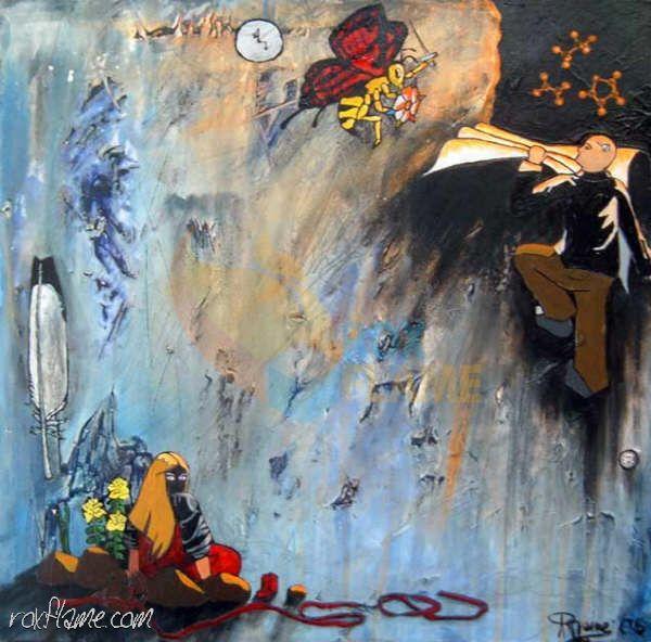 Rox Flame - Wellington New Zealand Artist - Internal Exodusius - Multimedia Painting