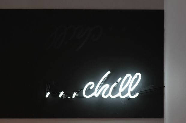 'Chill' Neon at The Kure Spa in Silver Lake, California