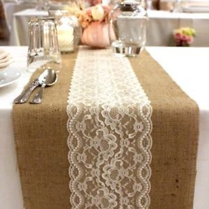 textures: burlap and lace