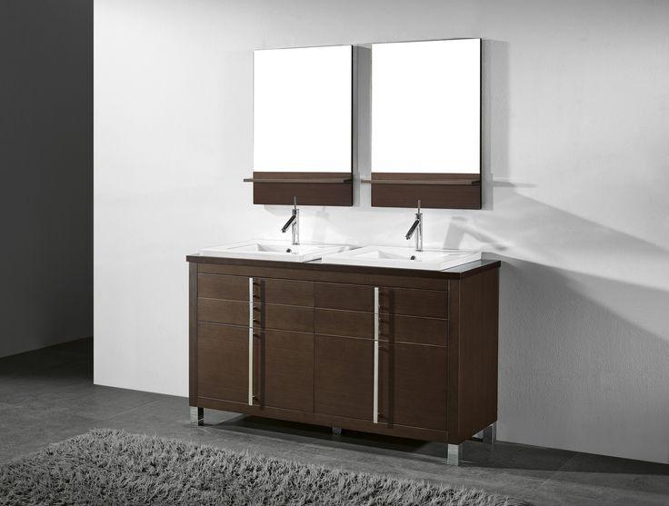 Create Photo Gallery For Website Adornus TURIN WAL C Walnut Vanity Double Sink BathroomModern