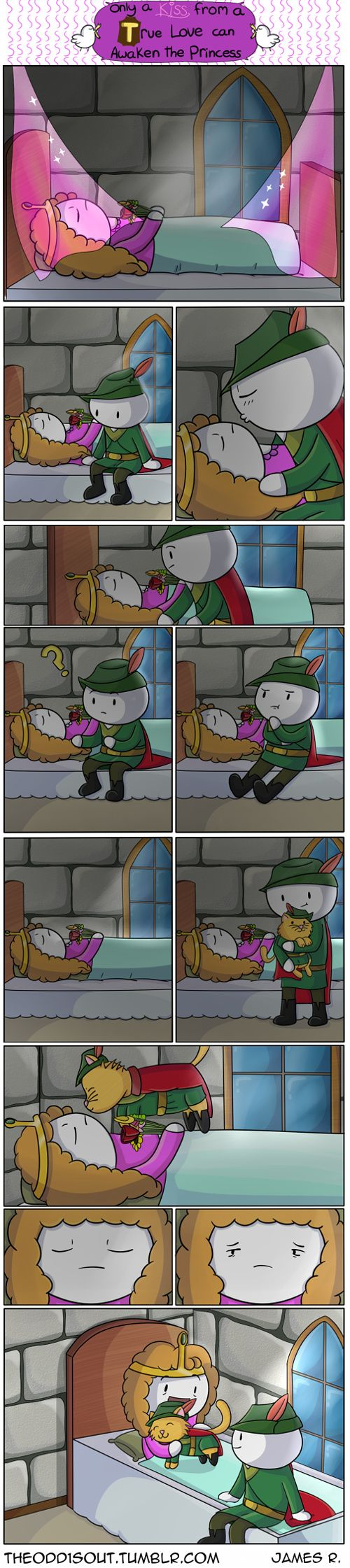 Check out the comic Theodd1sout :: A True loves kiss