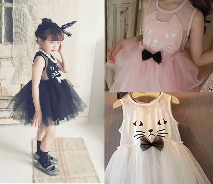 New Toddler Girl Halloween Costume Top Pretty Cute Cat Kitten Dress Up Outfit #Holiday