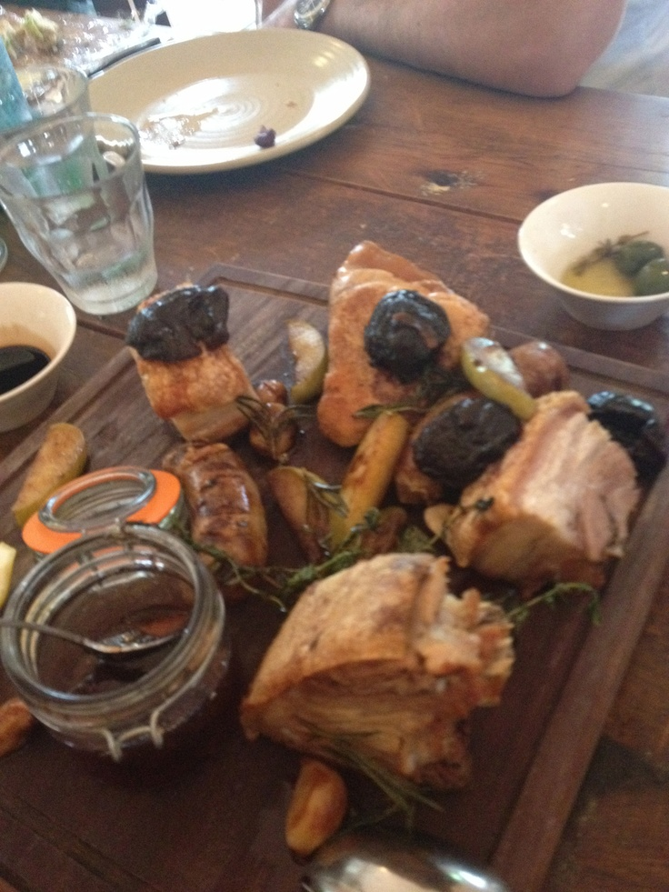 Delicious pork plate from The Beltree on Hermitage road. Mouth watering! #food #hunterwine