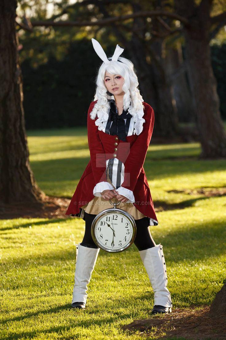 Alice im wunderland hase kostüm selber machen kostüm idee zu weihnachten karneval halloween