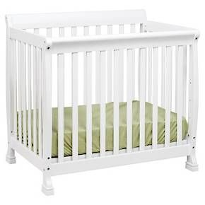 The Kalani Mini Crib is elegance, durability and reliability. Mirroring theKalani 4-in-1 Crib's timeless design, the Kalani Mini Crib features soft, subtle curves and the same lifetime functionality. Four mattress levels allow you to adjust the mattress height to your child's growth. Beyond the nursery years, the Kalani Mini Crib conveniently becomes a beautiful twin-size bed (conversion rails sold separately).<br><br>Features:<br><br>• Meets...