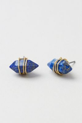 Wrapped Stone Post Earrings--get 7% cash back on these with StuffDOT!