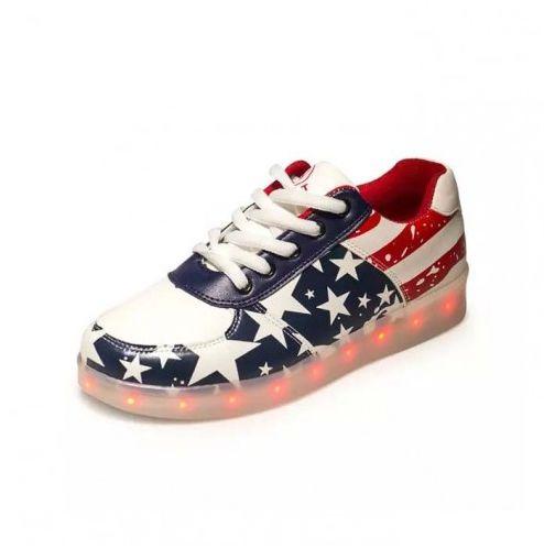 Men's Luminous Shoes USA Flag