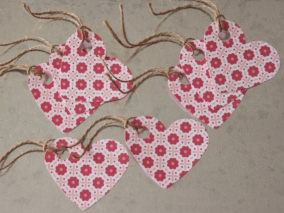 Valentine Heart Gift Tags 8 Pack by LYHHandmadeGifts on Etsy
