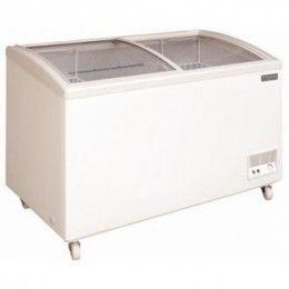 Arcones congeladores eficientes y fiables con tapa de cristal corredera. Montada sobre ruedas.