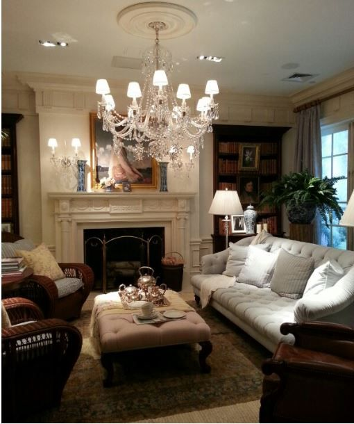 Ralph lauren home minus the chandelier too formall for Ralph lauren living room designs