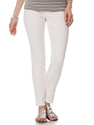 A Pea in the Pod also sells versions of Secret Fit Belly jeans. These It Jeans come in bright colors, including turquoise. ($50)