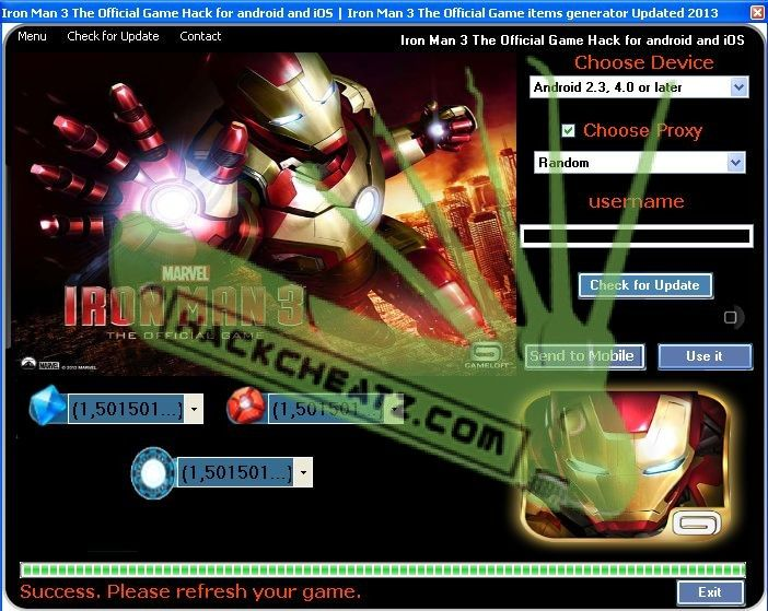 Iron Man 3 The Official Game Hack Cheat Tool [generator for Android and iOS] http://www.hackcheatz.com/iron-man-3-the-official-game-hack-cheat-tool-stark-credits-iso-08-adder-xp-adder-iron-man-3-the-official-game-generator-updated-2013-download-for-android-and-ios/ http://softwarelint.com/